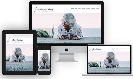 Jennifer Wendtman responsive website design