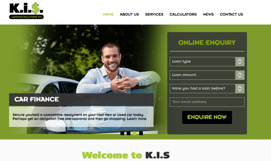KIS Lending Solutions small business website