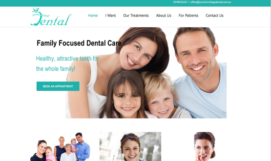 Website redesign - Junction Village Dental