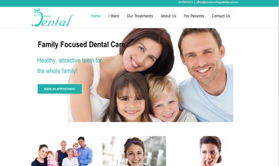 Website redesign - Junction Village Dental