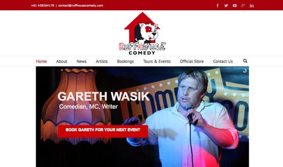 Website Creation Ruffhouse Comedy