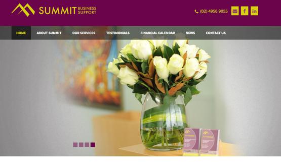 Summit Business Support website design