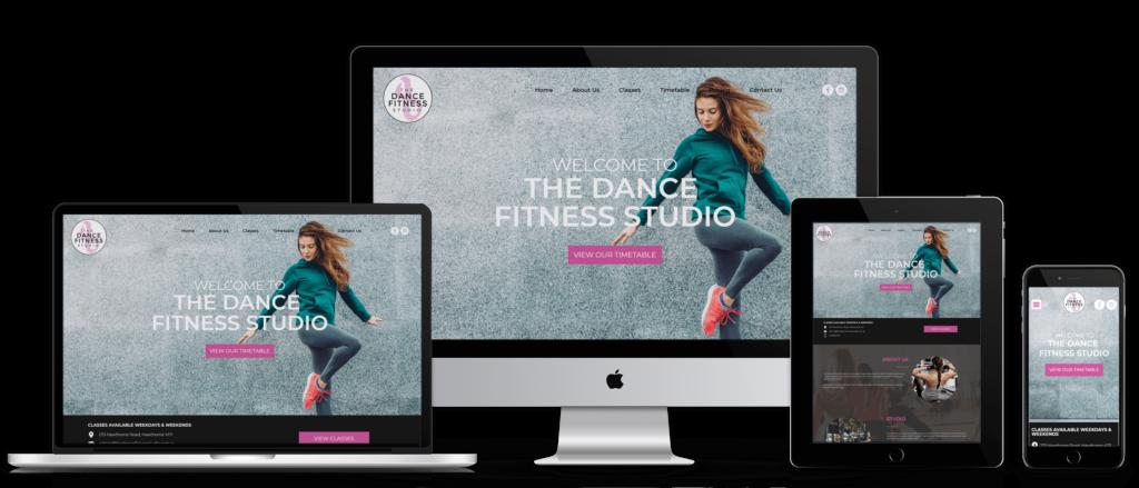 The Dance Fitness Studio website