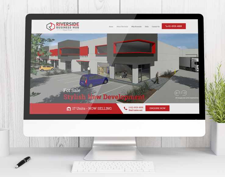 Riverside Business Hub small business website