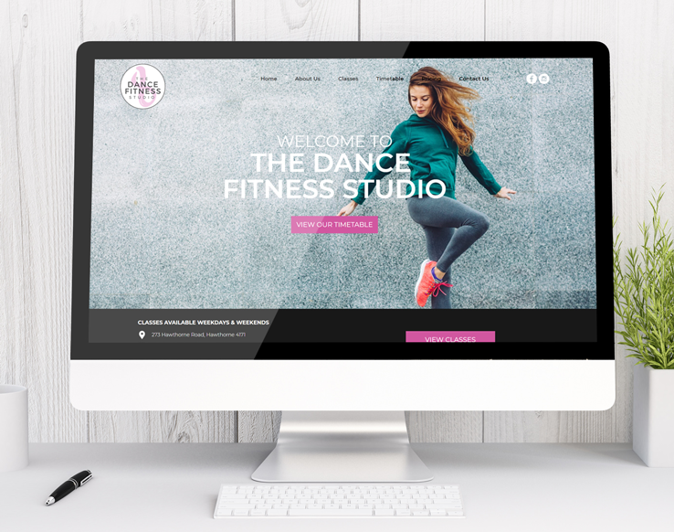 The Dance Fitness Studio - small business website