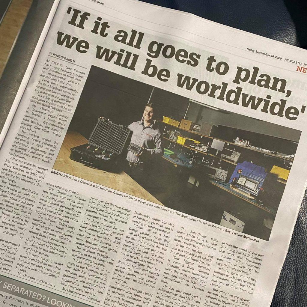 Safe Gauge Newcastle Herald Article