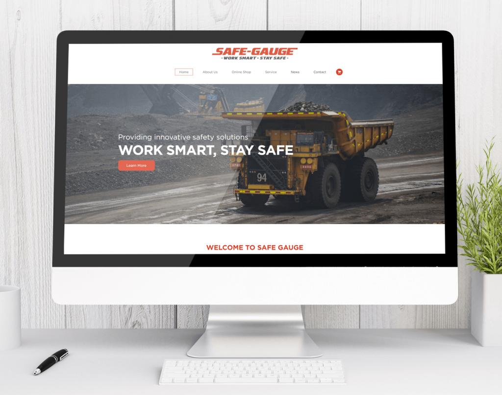 Safe Gauge - new website Newcastle web design